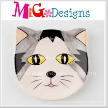 Cute Cat Shaped bunten Druck Keramik Schmuck Disk