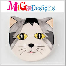 Cute Cat Shaped Colorful Printing Ceramic Jewelry Disk