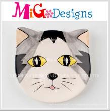 Милый Cat Shaped Красочный Печать Керамические Ювелирные Изделия Диск