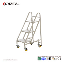 ORIZEAL Moveable book trolley three ladder cabinets