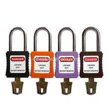 P11 P12 P13 P14 Safety Lockout Safety Padlock Stainless Steel Safety Padlock L38mm D6mm 40*45*20mm CE Approved