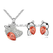 Wholesale lovely girls friendship diamond jewelry set