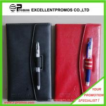 Cuaderno de cuero de la PU con la pluma (EP-B55511)