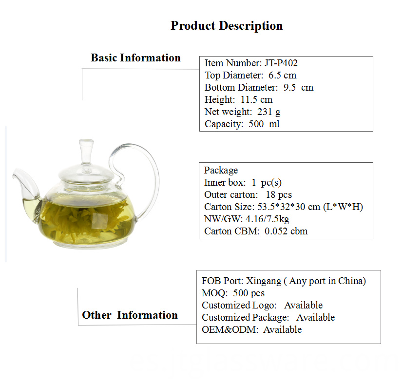 Glass Teapot With Infuser