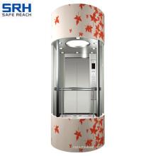 Sicher 4,0m / S Glaspanoramischer Aufzug