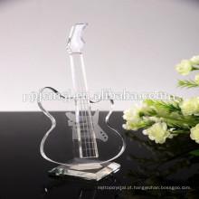 belo instrumento de música de cristal volin para lembranças