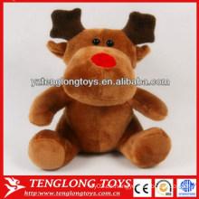 El regalo promocional de la Navidad de la venta caliente 2013 rellenó el reno de la felpa