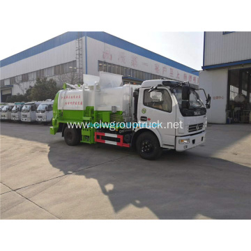 Dongfeng 4x2 Hang barrel type compression garbage truck