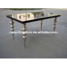Table à manger en bois de style européen pour meubles de mariage D1001