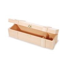 Деревянная коробка для вина с застежкой на петлях