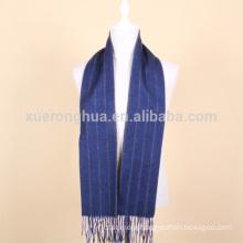 blue stripes wool scarf for men