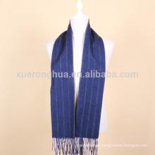 Lenço de lã com listras azuis para homem