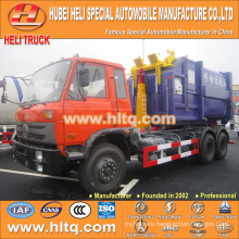 DONGFENG brand 6X4 18m3 left hand drive hook arm garbage truck 210hp best price hot sale In China