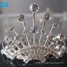 Elegantes peines franceses de cristal, peines de lujo del pelo de la boda, peines cristalinos del pelo del stylee