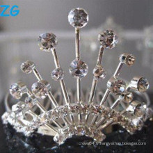 Peignes en cristal élégantes en cristal, peignes de mariage chic, peignes de style Crystal