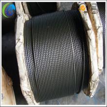 7 * 7 Cuerda de alambre de acero sin galvanizar