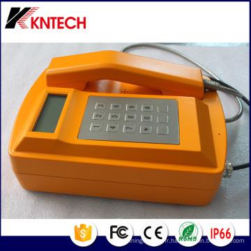 Téléphone d'urgence Knsp-18LCD résistant aux intempéries pour la marine