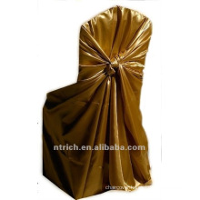 self-tie back chair cover,CT325 satin chair cover,universal chair cover