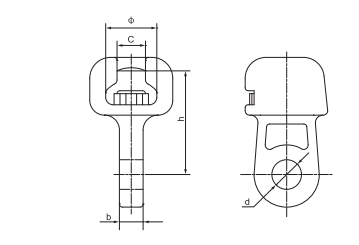 Electric Hardware Socket Clevis Eye