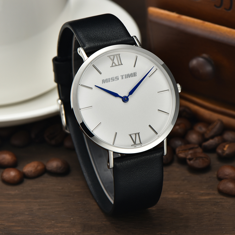 water resistant japan slim stone quartz watch