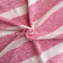 Lino / Tejer de algodón poli Tejido Jersey (QF13-0457)