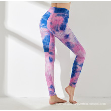 Tie Dyeing Tummy Control Yoga Pants