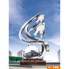 2016 Nouveau modèle métallique Statue d'acier inoxydable à haute quanlité