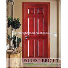 Rustic modern syle kitchen cabinet natural engineer veneer molded door