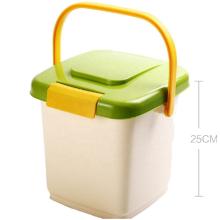 Cão de estimação de plástico gato animal bin armazenamento de alimentos