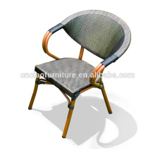 Special Design Hot Sell Outdoor Aluminum Bamboo Chairs For Coffee Shope