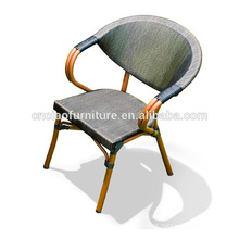 Cadeiras de bambu de alumínio exteriores da venda quente especial do projeto para o café Shope
