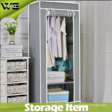 Easy Clean Bedroom Folding Portable Canvas Simple Wardrobe