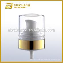 Pompe à lotion en plastique / pompe à crème 22mm / distributeur de pompe à revêtement uv avec AS overcap