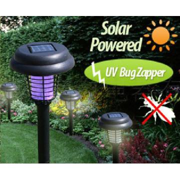Solar Powered LED Photocatalyst Mosquito Killer, Pest Killer Repellent UV Bug Zapper Lamp Fly Trap