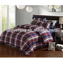 Para bedsheet 100% Cotton Yarn Teñido de tela de franela hecha en china