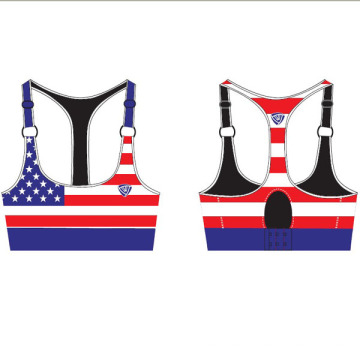 Polyester Spandex Seamless Padded Sports Bra for Women