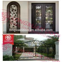 China Lieferant Schmiedeeisen Tür Designs