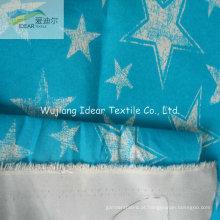 Transferência de 75DX150D impresso tecido liso pele pêssego