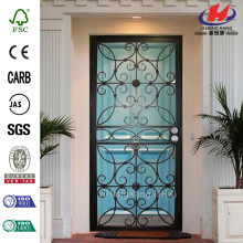 Universal Hinging Outswing Wrought Iron Security Door