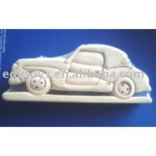 Juguetes del coche del arte de los cabritos DIY, juguetes de madera del arte de DIY