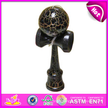 High Quality Mini Wooden Toy Kendama, Wholesale Wooden Kendama, Wood Skill Toy Kendama, Wooden Kendama Toy with 18.5*6*7cm W01A029