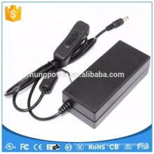 Adaptador de CC de la CA de la alta calidad Clase 2 fuente de alimentación 12V 2A con el interruptor para la fuente de alimentación de la luz 12v 2a del LED