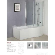1700mm glass screen bath shower with glass door