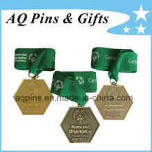 Medallas de deportes al por mayor en diferentes colores de chapado