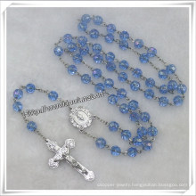Faceted Glass Beads Rosary, Beautiful Rosary Beads (IO-cr335)