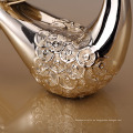 venta al por mayor resina de oro titular de la vela titular de la mesa de la boda