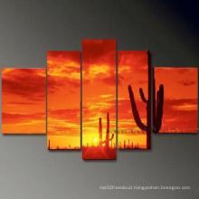 Handmade Group Modern Seascape Sunset Oil Painting on Canvas (SE-0124)