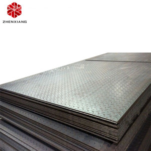 A36 SS400 Chequered Tear Drop Steel plate