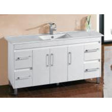 White Gloss MDF Hot Sale Bathroom Vanity with Hinger (Um31-1500W)