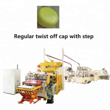 Tapa giratoria regular automática con fabricación de pasos Línea de producción Fabricación de tapas de botellas de aluminio